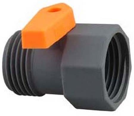 One way hose coupling with side valve