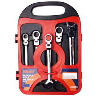 5PCS FLEXSIBLE GEAR WRENCH SET