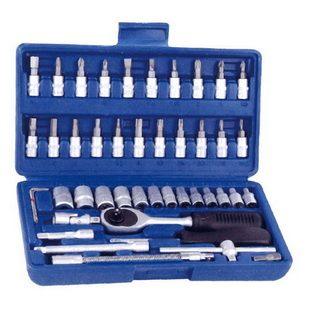 "46 PCS 1/4"" DR. SOCKETS AND BITS SET"
