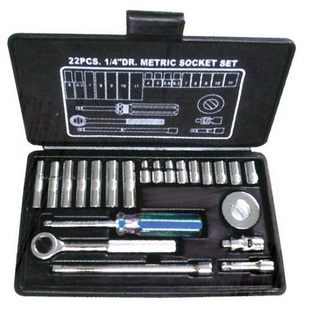 "22 PCS 1/4"" DR. SOCKETS SET"