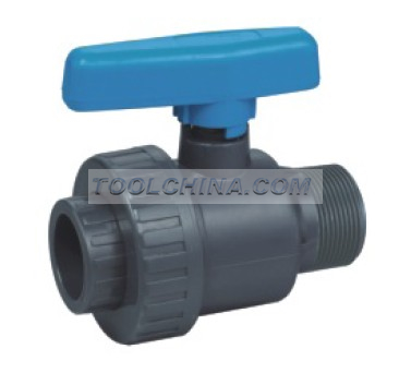 PVC union male ball valve