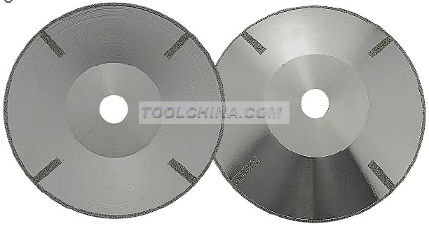 Electroplated Diamond Blade cutting blade CURVATURE CUTTING WITH STRAIGHT REINFORCING RIB