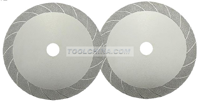Electroplated Diamond Blade cutting blade DOUBLE SIDE TURBO STYLE